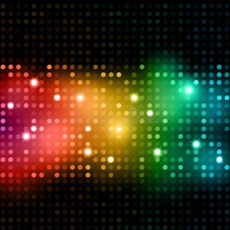 Ανασκόπηση φω'των Disco διανυσματική απεικόνιση