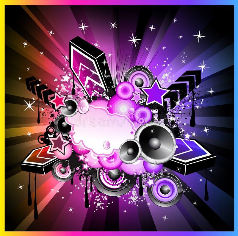 Ανασκόπηση φ γεγονότος μουσικής Colorul διανυσματική απεικόνιση