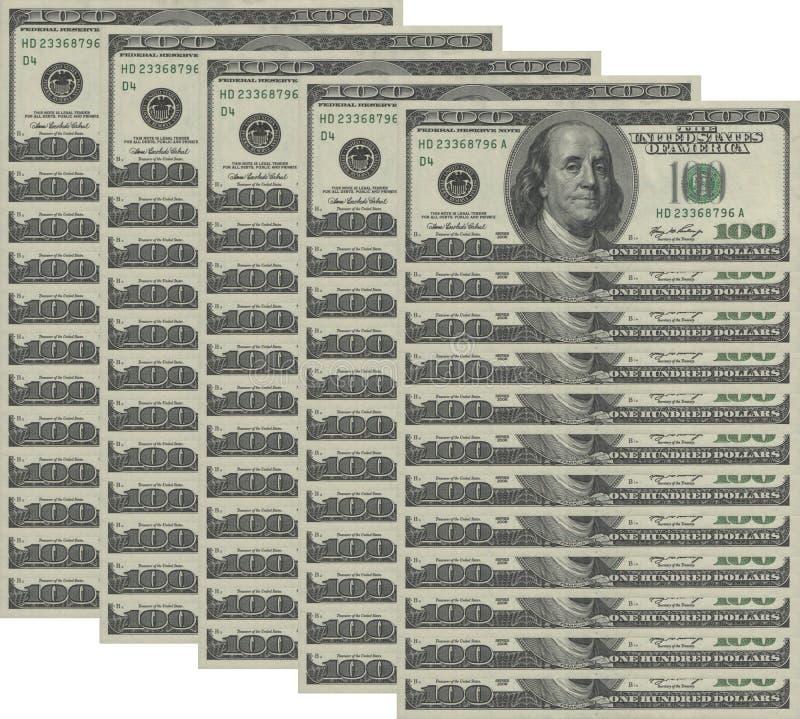 Ανασκόπηση χρημάτων στοκ εικόνα