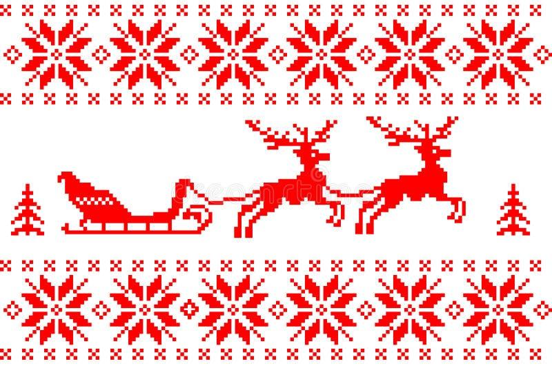 Ανασκόπηση Χριστουγέννων με τα ελάφια ελεύθερη απεικόνιση δικαιώματος
