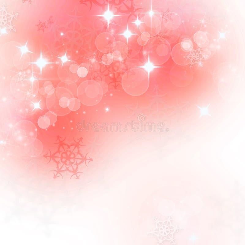 Ανασκόπηση Χριστουγέννων με snowflakes απεικόνιση αποθεμάτων