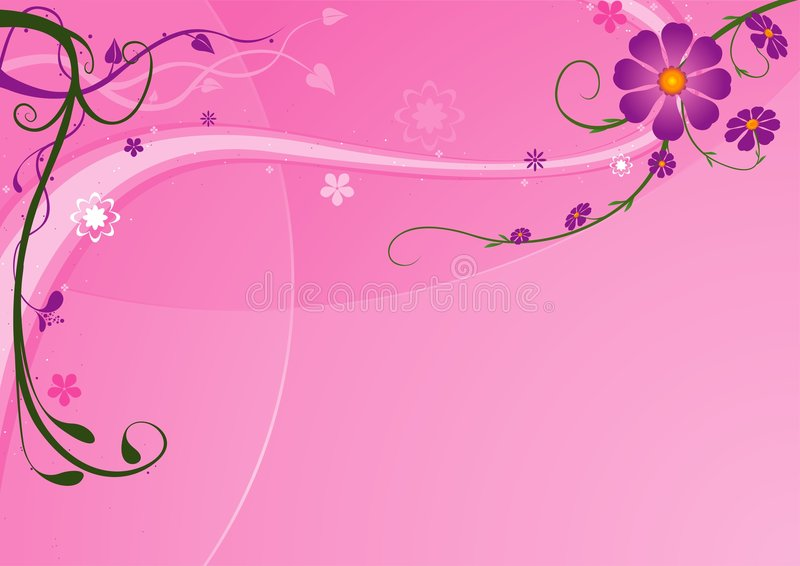ανασκόπηση 05 floral διανυσματική απεικόνιση