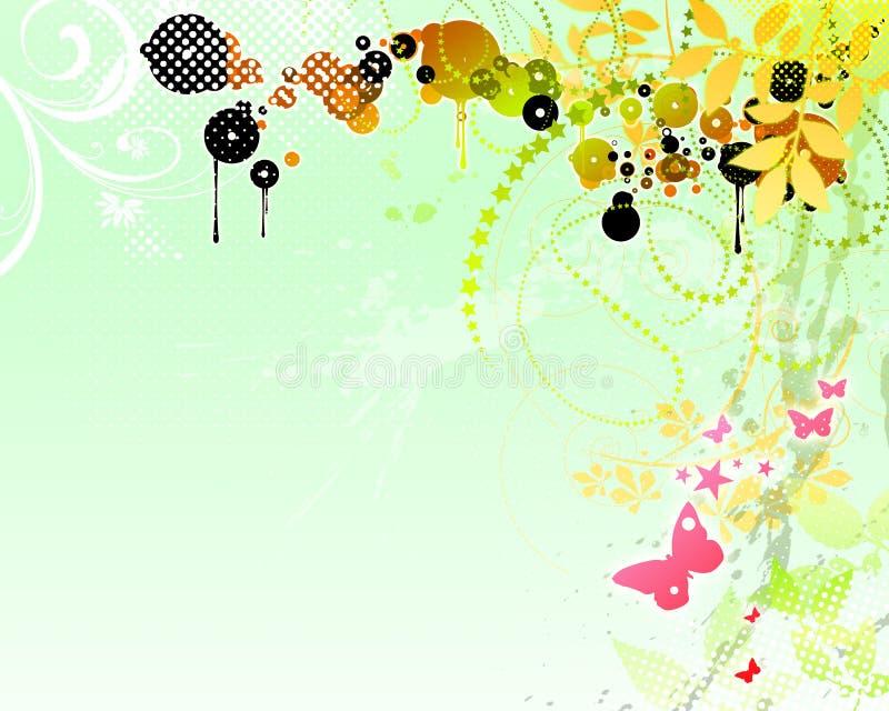 ανασκόπηση 06 floral διανυσματική απεικόνιση