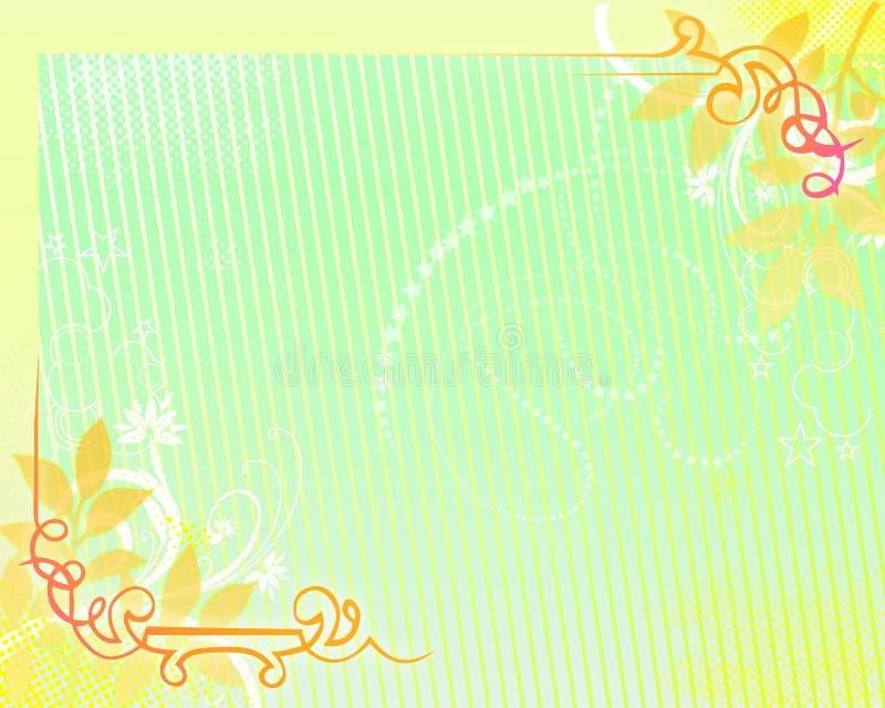 ανασκόπηση 08 floral διανυσματική απεικόνιση