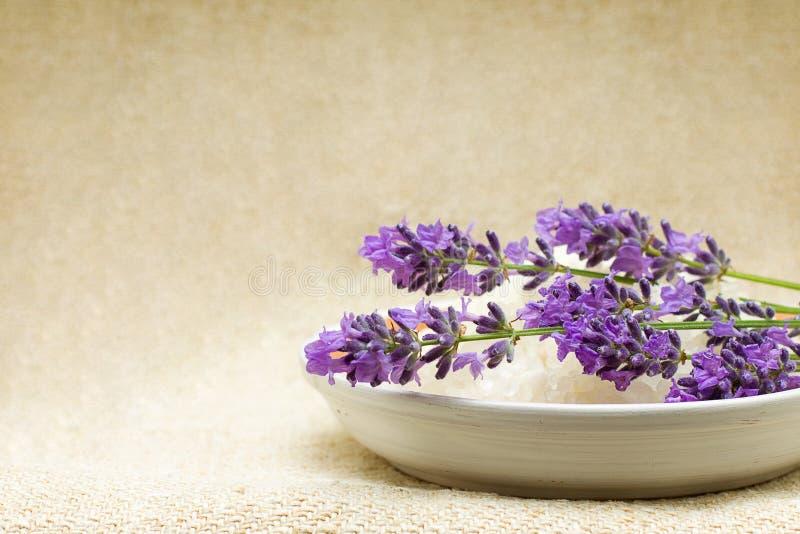ανασκόπηση bath lavender salt spa στοκ εικόνες με δικαίωμα ελεύθερης χρήσης