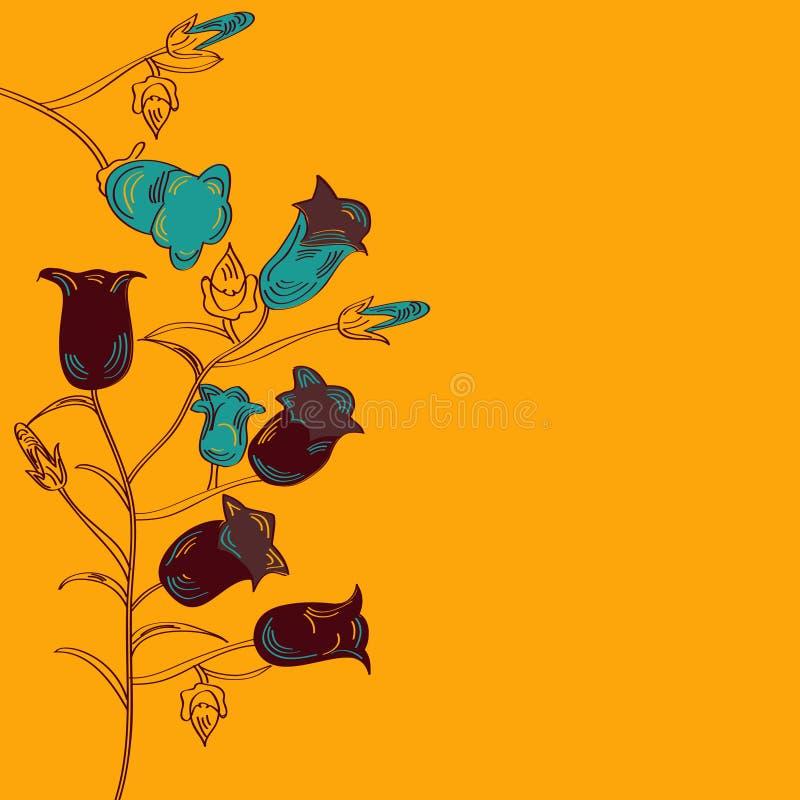 ανασκόπηση bellflower Καντέρμπουρ&ups διανυσματική απεικόνιση
