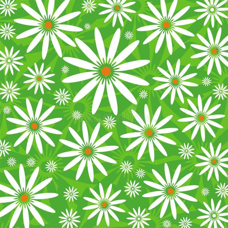 ανασκόπηση camomiles πράσινη ελεύθερη απεικόνιση δικαιώματος