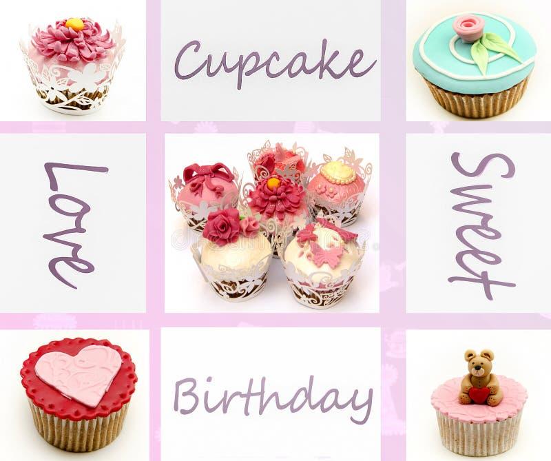 Ανασκόπηση Cupcakes στοκ εικόνες