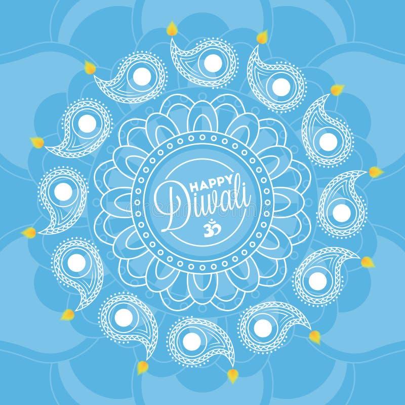 Ανασκόπηση Diwali διανυσματική απεικόνιση