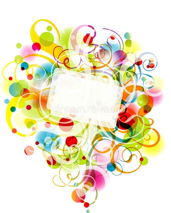 ανασκόπηση eps10 floral διανυσματική απεικόνιση