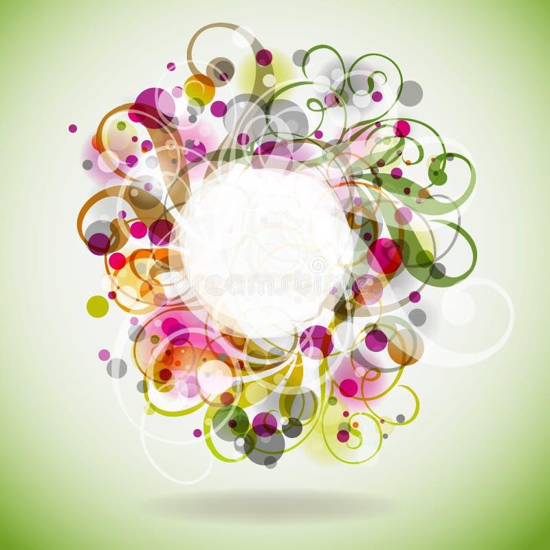 ανασκόπηση eps10 floral ελεύθερη απεικόνιση δικαιώματος