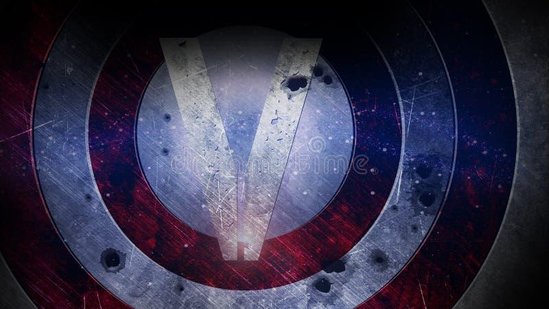 Ανασκόπηση Grunge αφηρημένη απεικόνιση Νίκη ελεύθερη απεικόνιση δικαιώματος