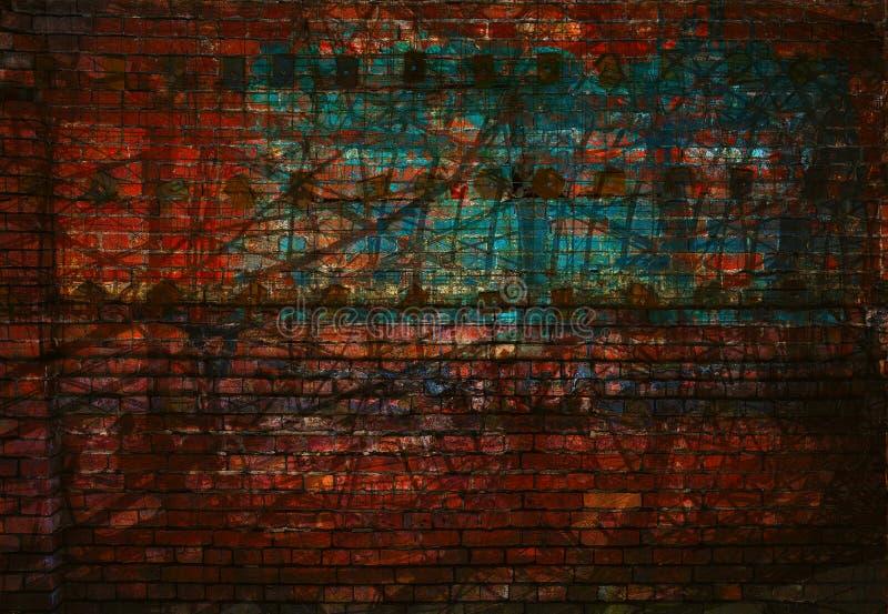 ανασκόπηση grunge κατασκευα&si Τοίχος με τις γρατσουνιές και τα τριψίματα Κενό διάστημα τέχνης στοκ φωτογραφίες