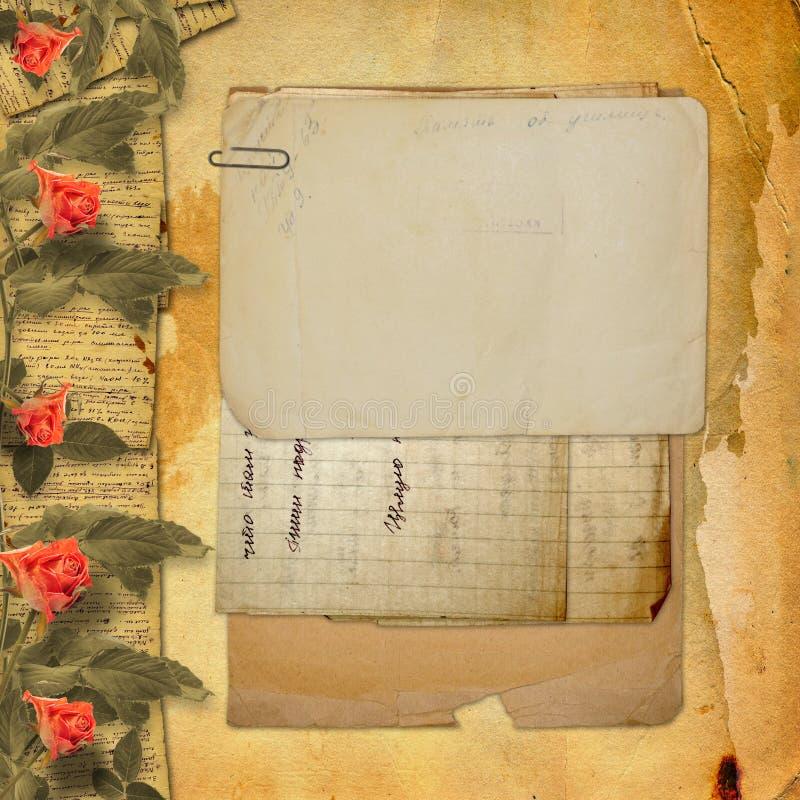 Ανασκόπηση Grunge με το σημειωματάριο και όμορφος ελεύθερη απεικόνιση δικαιώματος