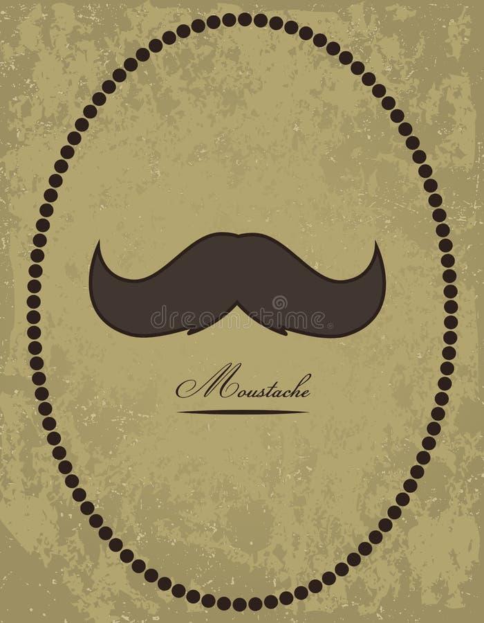 Ανασκόπηση Moustache διανυσματική απεικόνιση