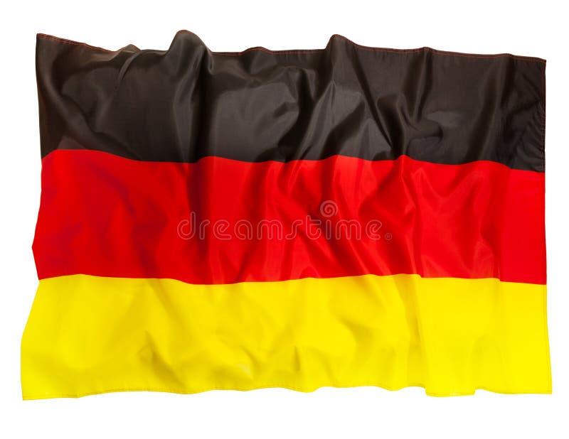 Αναστατωμένη σημαία της Γερμανίας του μεταξιού, που απομονώνεται στο  στοκ εικόνα με δικαίωμα ελεύθερης χρήσης