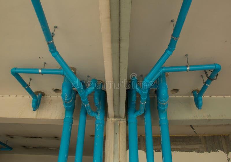 Αναστολή σωληνώσεων PVC στοκ φωτογραφίες με δικαίωμα ελεύθερης χρήσης