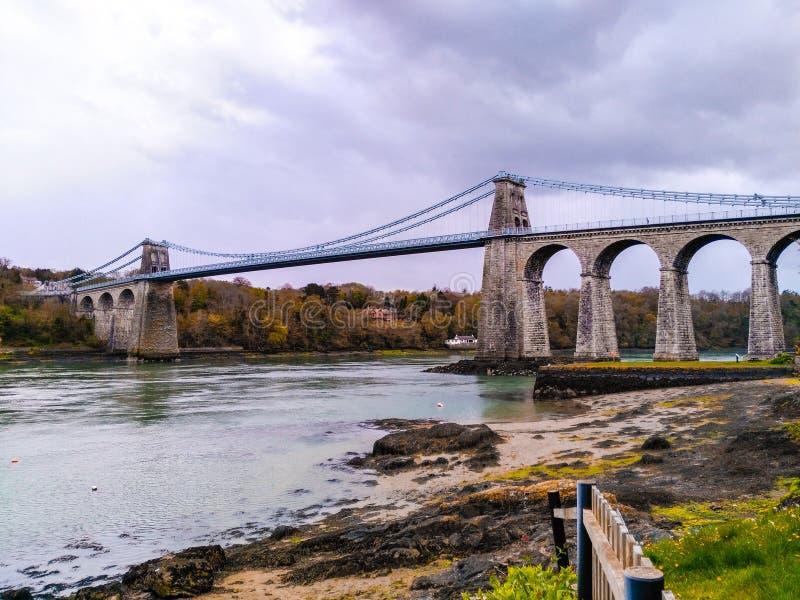 αναστολή menai γεφυρών στοκ φωτογραφία με δικαίωμα ελεύθερης χρήσης
