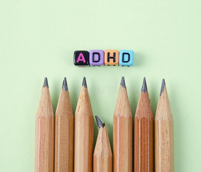Αναταραχή υπερδραστηριότητας διάσπασης της προσοχής ή έννοια ADHD στοκ εικόνα