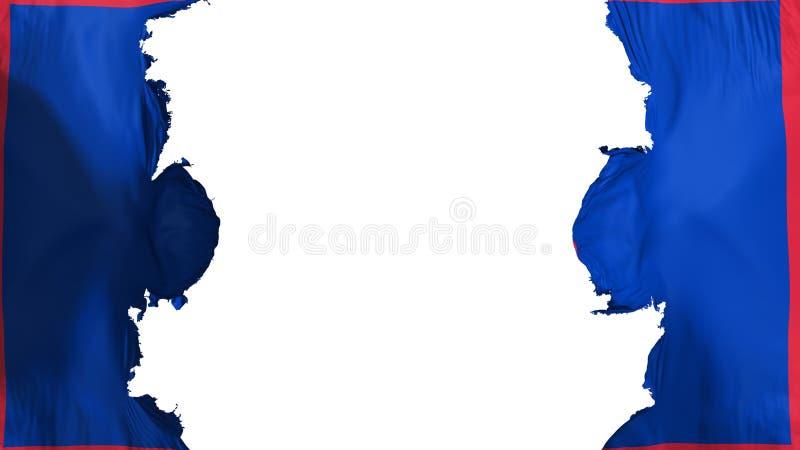 Ανατιναγμένη κρατική σημαία του Γκουάμ απεικόνιση αποθεμάτων