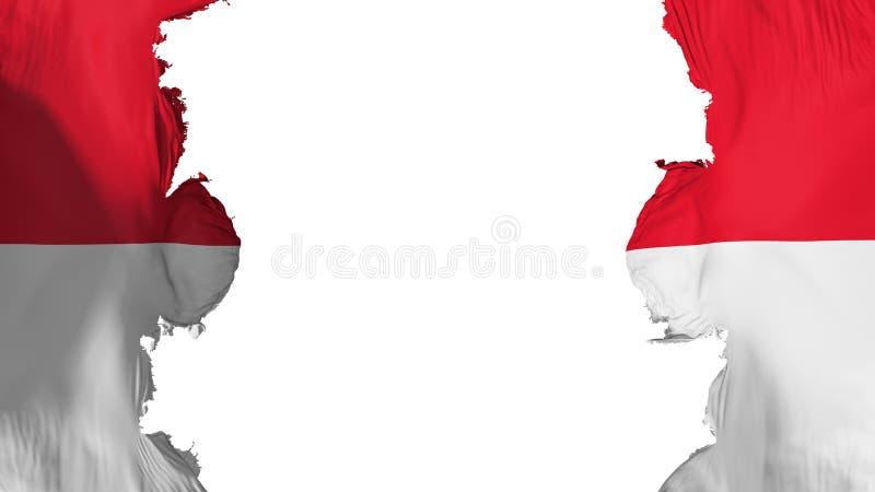 Ανατιναγμένη σημαία του Μονακό ελεύθερη απεικόνιση δικαιώματος