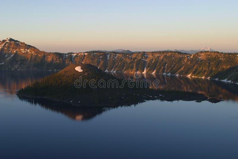 ανατολή λιμνών κρατήρων στοκ εικόνες