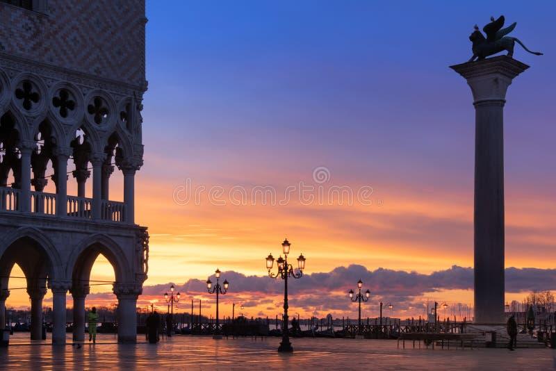 Ανατολή πέρα από τη λιμνοθάλασσα, Βενετία, Ιταλία στοκ φωτογραφία με δικαίωμα ελεύθερης χρήσης