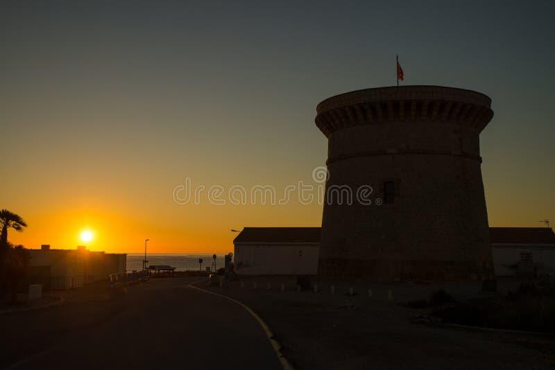 Ανατολή πέρα από Campello τον κόλπο στοκ φωτογραφία με δικαίωμα ελεύθερης χρήσης