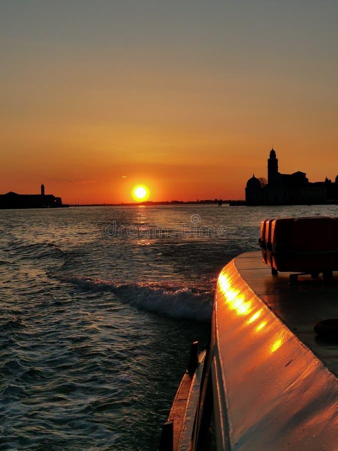 Ανατολή στη Βενετία στοκ εικόνες με δικαίωμα ελεύθερης χρήσης