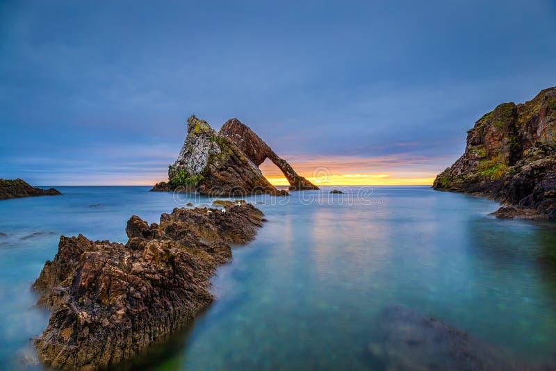 Ανατολή στο βράχο βιολιών τόξων στοκ εικόνες με δικαίωμα ελεύθερης χρήσης