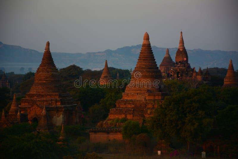 Ανατολή στο ναό Bagan, το Μιανμάρ στοκ φωτογραφία με δικαίωμα ελεύθερης χρήσης