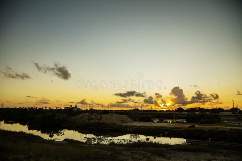 Ανατολή στο Everglades στοκ εικόνες με δικαίωμα ελεύθερης χρήσης