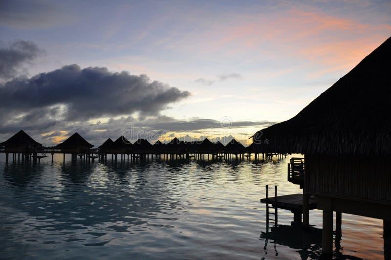 ανατολή Ταϊτή στοκ φωτογραφία