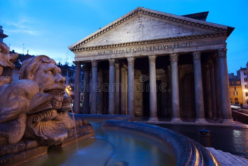 ανατολή της Ιταλίας pantheon Ρώμη στοκ εικόνες με δικαίωμα ελεύθερης χρήσης