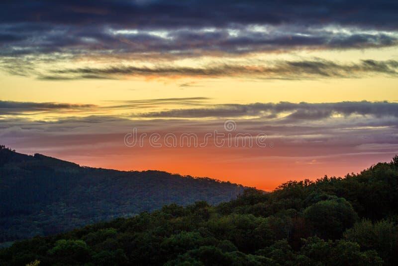 Ανατολή του ήλιου Μόρβαν στοκ εικόνες
