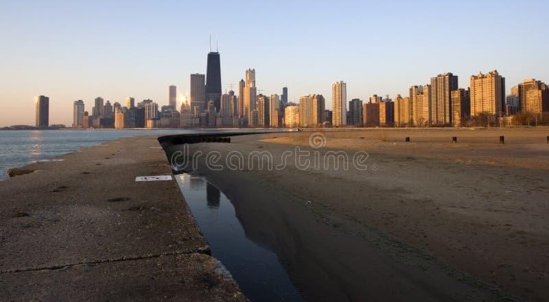 ανατολή του Σικάγου στοκ εικόνα με δικαίωμα ελεύθερης χρήσης