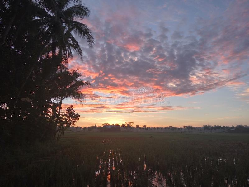 Ανατολή το πρωί στοκ εικόνα