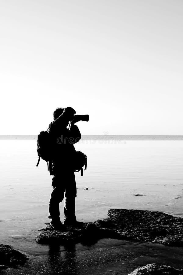 ανατολή φωτογράφων στοκ φωτογραφία με δικαίωμα ελεύθερης χρήσης