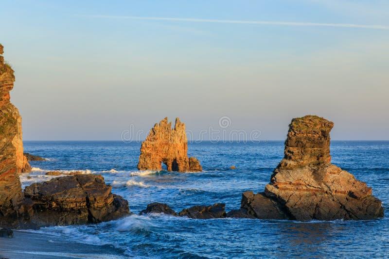 Ανατολή Playa de Portizuelo στοκ εικόνες με δικαίωμα ελεύθερης χρήσης