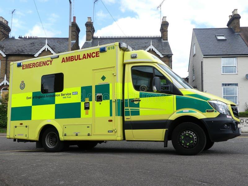 Ανατολικά ασθενοφόρο έκτακτης ανάγκης Υπηρεσιών Ασθενοφόρων Οχημάτων της Αγγλίας NHS στοκ εικόνες με δικαίωμα ελεύθερης χρήσης