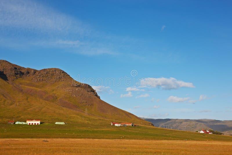 ανατολικά φιορδ Ισλανδί&a στοκ φωτογραφία