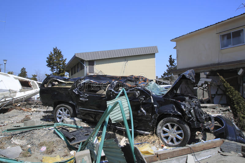ανατολική μεγάλη Ιαπωνία σεισμού στοκ φωτογραφίες με δικαίωμα ελεύθερης χρήσης