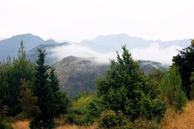 ανατολή βουνών τοπίων φθινοπώρου στοκ εικόνες