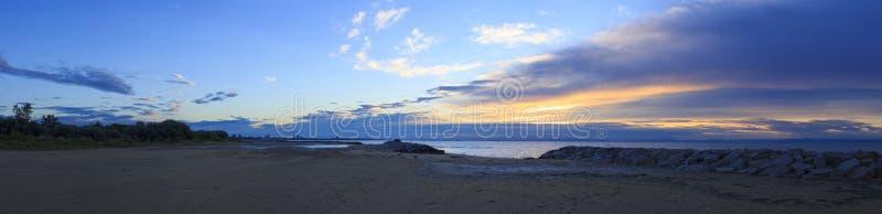 Ανατολή, παραλία σε Bibione, Ιταλία στοκ φωτογραφία