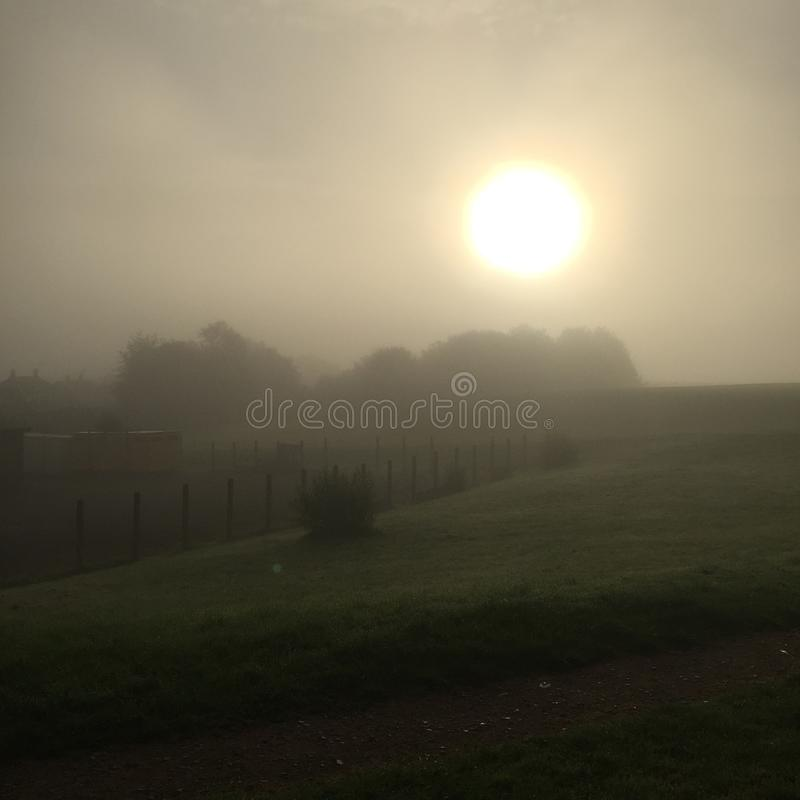 Ανατολή πρωινού της Misty στοκ εικόνες με δικαίωμα ελεύθερης χρήσης