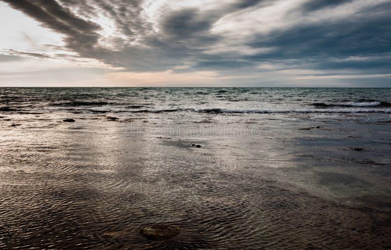 ανατολή σκαφών θάλασσας ανασκόπησης στοκ εικόνα με δικαίωμα ελεύθερης χρήσης