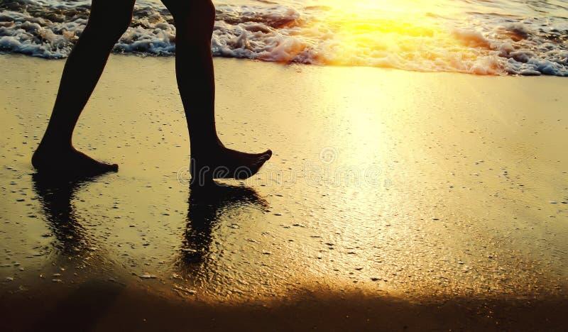Ανατολή στην παραλία - εκλεκτής ποιότητας φίλτρο στοκ εικόνες με δικαίωμα ελεύθερης χρήσης
