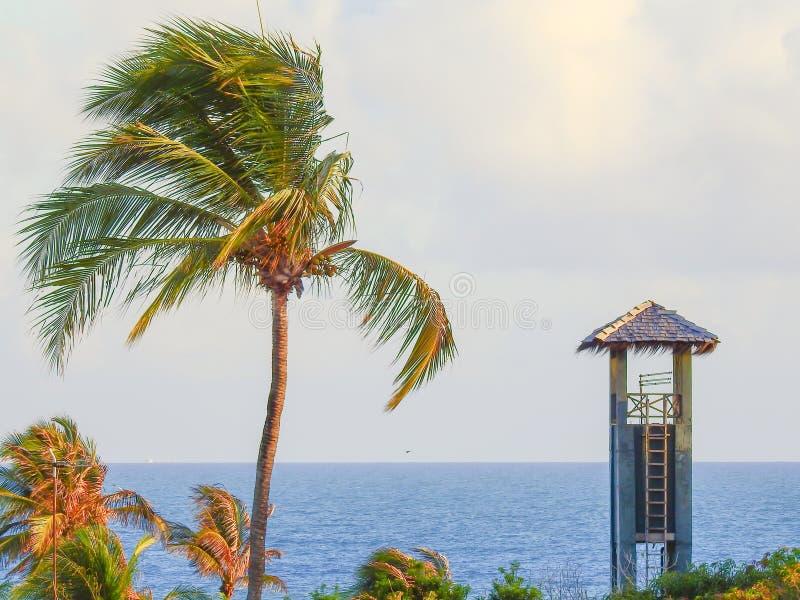 Ανατολή στην παραλία Cumbuco Φορταλέζα _ στοκ εικόνα