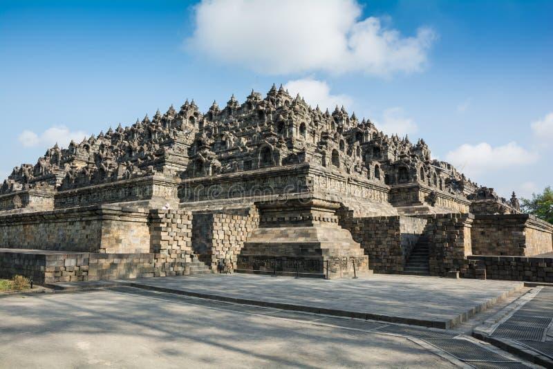 Ανατολή στο βουδιστικό ναό Borobudur, νησί της Ιάβας, Ινδονησία στοκ φωτογραφίες
