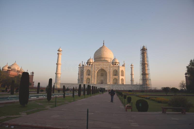 Ανατολή στο Taj Mahal, Agra, Ινδία στοκ φωτογραφία